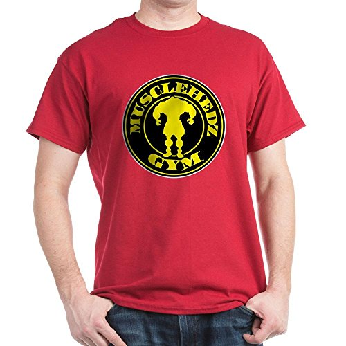 CafePress MUSCLEHEDZ Gym - - 100% Cotton T-Shirt