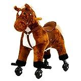 Kinbor Kids Girls Boys Walking Pony Ride on Horse Rocking Toy Neigh Sound w/Wheels,Birthday Children's Day Gifts