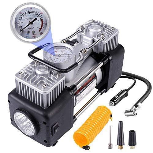 RUGCEL WINCH Portable Air Compressor Pump 10.5KG, 12V 280W Auto Digital Car Tire Inflator Gauge (12V 280 W)