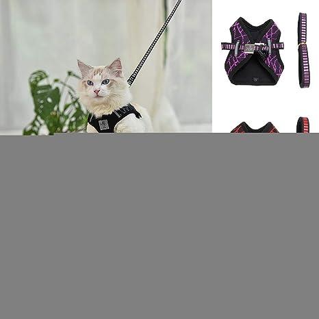 Kalaokei - Arnés Reflectante Ajustable para Gatos y Mascotas ...