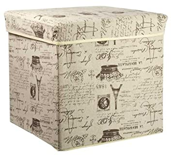 Amazoncom Home Basics Storage Ottoman Folding Storage Box