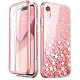 i-Blason iPhone XR Case, iPhone XR [Cosmo] Full-Body Bling Glitter Sparkle Clear Bumper Case with Built-in Screen Protector for iPhone XR 6.1 inch