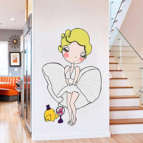 TYY Cartoon Marilyn Monroe Tatuajes de Pared Diosa Etiqueta de la ...