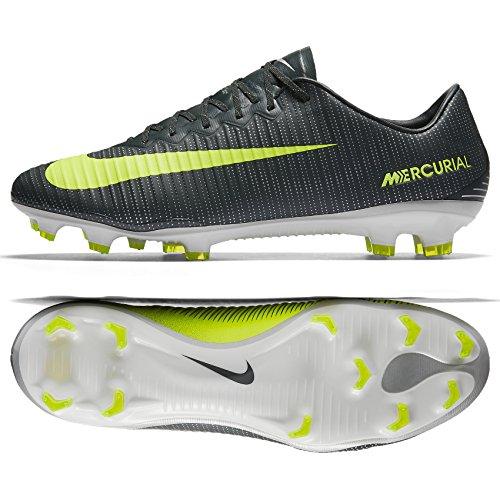 NIKE Mercurial Vapor XI CR7 FG Men's Firm Ground Soccer Cleat (Nike Mercurial Vapor Green)