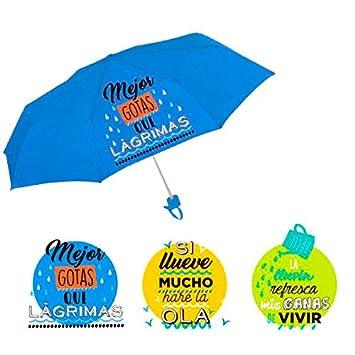 Paraguas plegable Baggy frases 12 uds