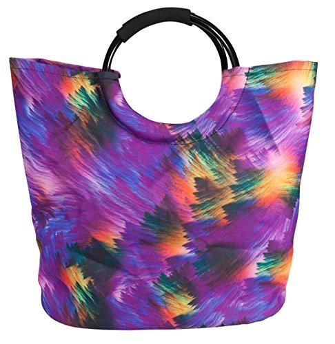 Einkaufstasche Rio Farbe Lila Regenbogen Shopper Tasche Umhängetasche Freizeittasche Schwimmen für jeden Anlass Utensilien Fa. Bowatex