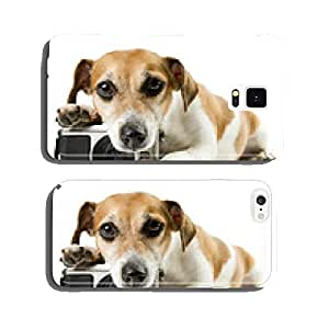 dog lying near the camera staring tired upset cell phone cover case Samsung S6