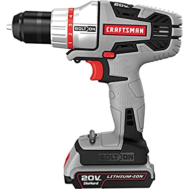 Craftsman 46133 Bolt-On 20V Max Lithium Ion Drill/Driver