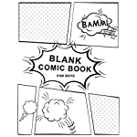 Blank Comic Book For Boys: Blank Comic Book Draw Your Own Comics Sketchbook For Kids  Teens  Adults Or Artists (Large Blank Comic Book)