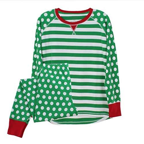 bambino Adulto Pigiama Genitore Bambini Famiglia Zhxinashu Mamma Natale Abbigliamento Verde Biancheria Notte Imposta Abbinato Da 8xFPAqSwP