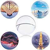 Englens K9 Crystal Ball 80 mm / 3.15 inch Clear Photo Ball with Stand for Photography Decoration (8 cm)