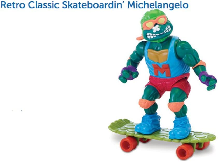 Teenage Mutant Ninja Turtles, Classic Collection, Skateboardin' Michelangelo Action Figure, 4 Inches