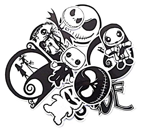 Nightmare Before Christmas Themed Decal Stickers Assorted Lot of 12 - Sticker Decal Christmas