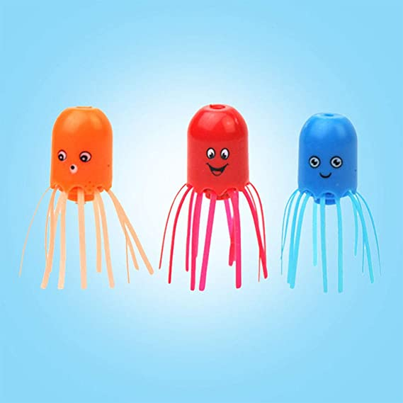 Amazon Com Akdsteel Children Kids Magical Jellyfish Abs Floating Sink Spin Science Water Toy Gifts For Toys Gift Home Kitchen