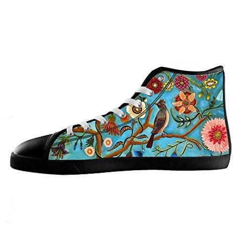 Tetto E Custom Canvas Women's Lacci Da Scarpe Uccello I Foresta Delle Ginnastica Shoes Alto qwFw5SxaO