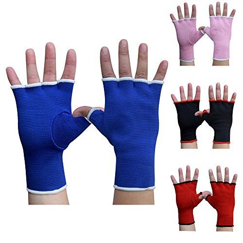 AKRON Inner Hand Wraps MMA Muay Thai Fight Training Bag Gloves Punch Boxing Karate UFC (Blue, Senior)