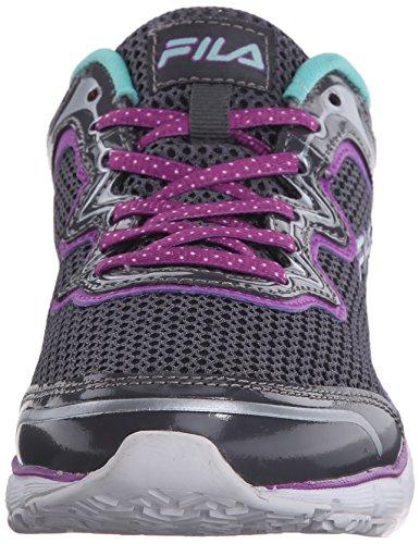 Fila de memoria Fresh Start antideslizante zapato de trabajo Castlerock/Purple Cactus Flower/Cockatoo