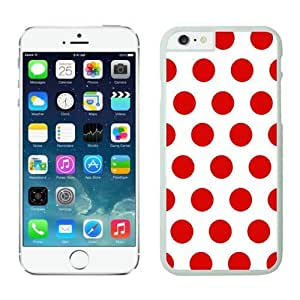 Iphone 6 Case 4.7 Inches, White and Red Dot Graceful Iphone 6 Case Cover Speck, White TPU Soft Phone Case Cover for Apple Iphone 6