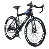 OPATER Racing Road Bike 26″ 24 Speed 700c Heavy Duty Construction Carbon Steel Frame Aluminum Alloy with Hardy Bicycle Accessories