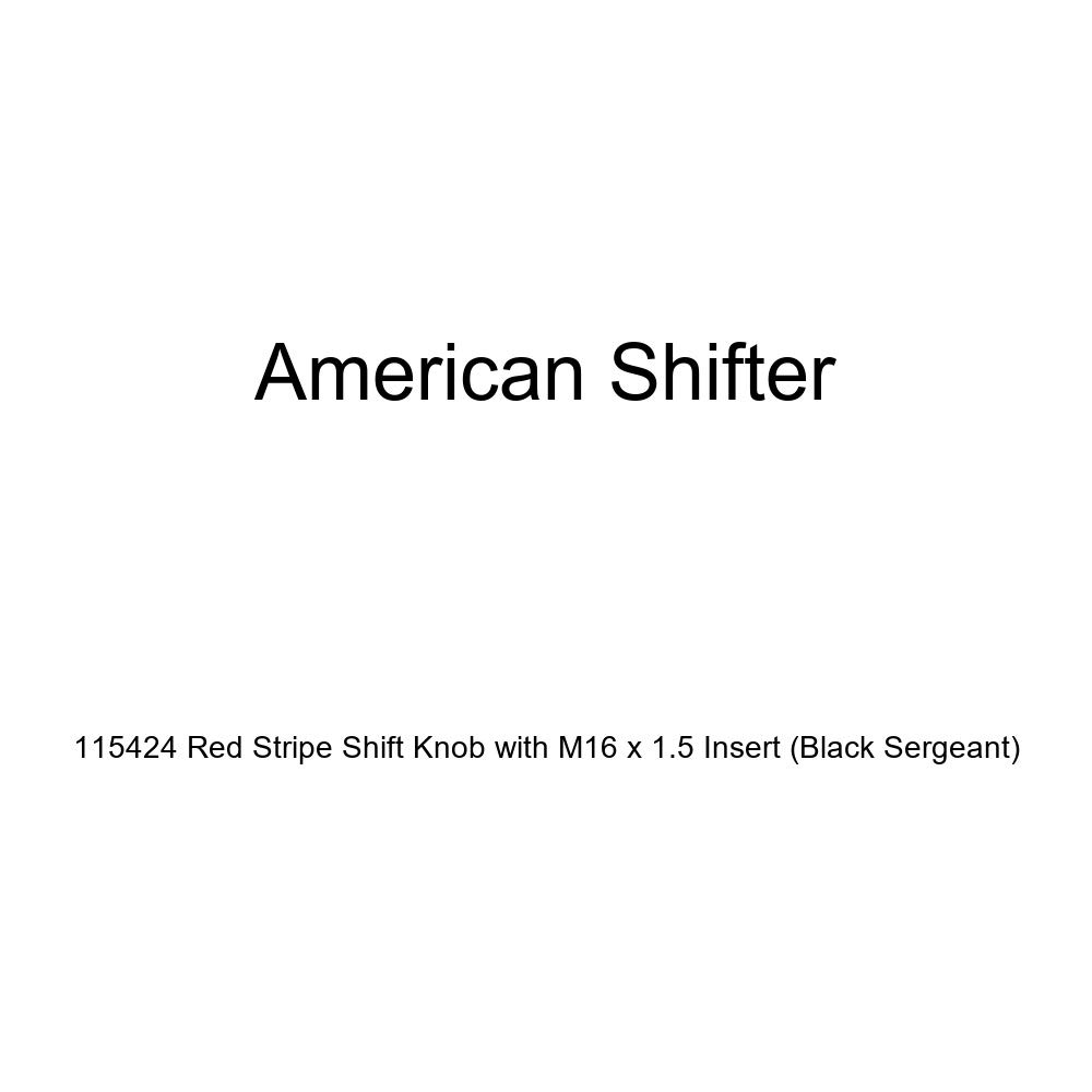 Black Sergeant American Shifter 115424 Red Stripe Shift Knob with M16 x 1.5 Insert