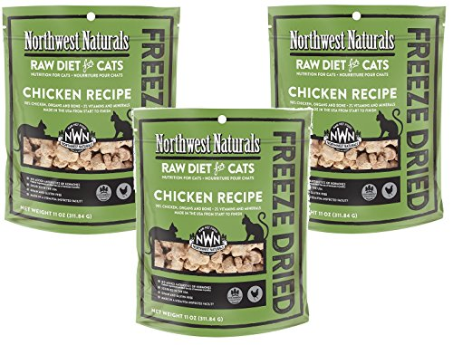Northwest Naturals (3 Pack) Freeze Dried Raw Diet for Cats - Chicken - 11oz from Northwest Naturals