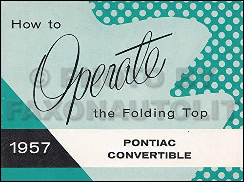 1957 Pontiac Bonneville Convertible Top Owner's Manual Original ()