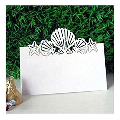 60pcs Laser Cut Wedding Place Cards Personalised Table Name Reception Decoration with White Lace Pattern Cardstock for Wedding Favors,Party