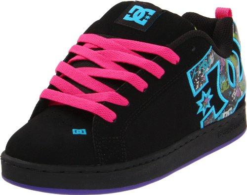 DC Women\u0027s Court Graffik SE Sneaker,Black/Graffiti Print,8.5