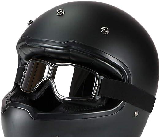 LEAGUE&CO Gafas de Moto Retro Vintage Gafas de Protección Gafas ...