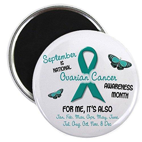 "CafePress Ovarian Cancer Awareness Month 2.1 2.25"" Round Magnet, Refrigerator Magnet, Button Magnet Style"
