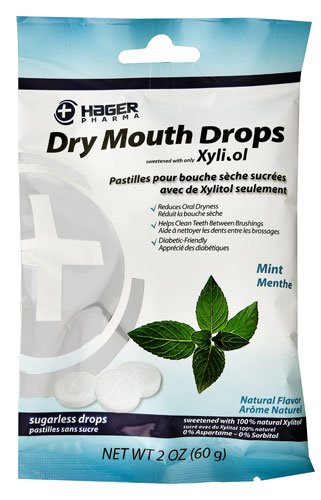 HAGER Pharma Dry Mouth Drops with Xylitol Mint -- 2 oz - 3PC