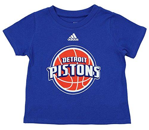 adidas NBA Infants Detroit Pistons Short Sleeve Team Logo Tee, Blue 18 (Adidas Detroit Pistons T-shirt)
