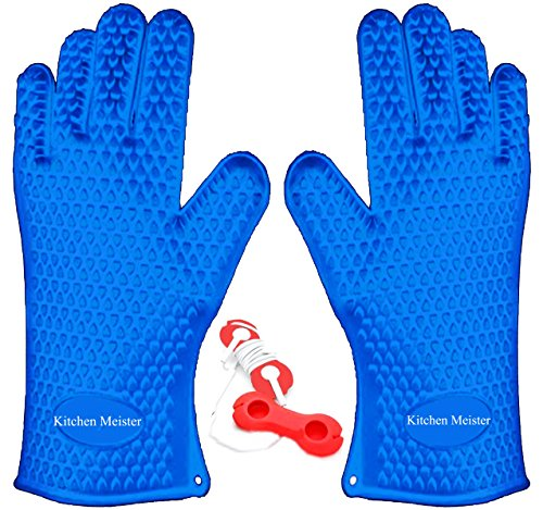 silicone-oven-bbq-grill-cooking-and-pot-holder-heat-resistant-gloves-set-of-2-blue-includes-1-silico