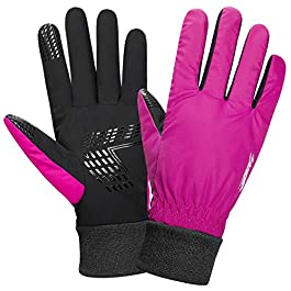 Anqier Waterproof Cycling Gloves for Men Women Thermal Flexible Lightweight Anti-slip Winter Warm Gloves for Driving Working Riding Running Skiing and Other Outdoor Sports