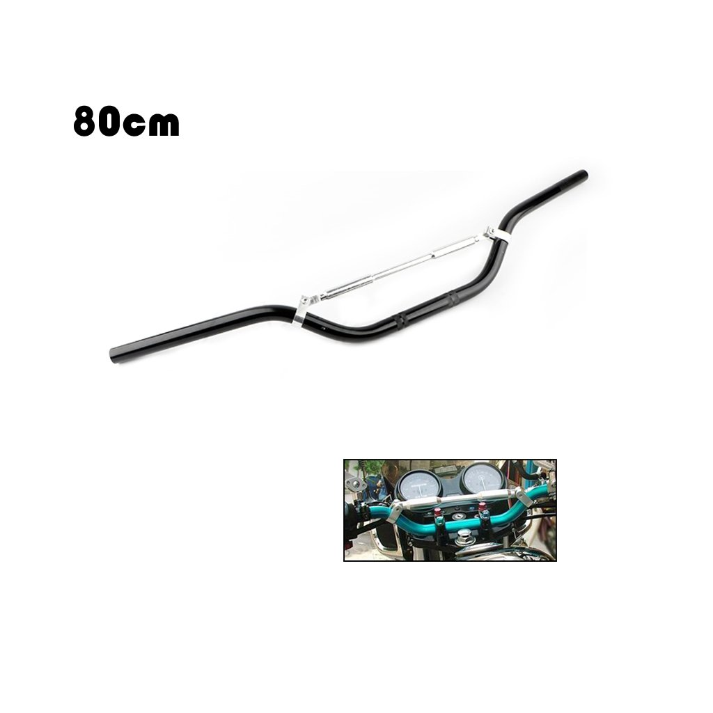 Noir Shiwaki Guidon Universa 7//8  22mm Drag pour Dirt Bike Cruiser Chopper Bobber 80cm