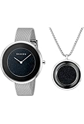 Skagen Women's SKW1070 GITTE Analog Display Analog Quartz Silver Watch Set