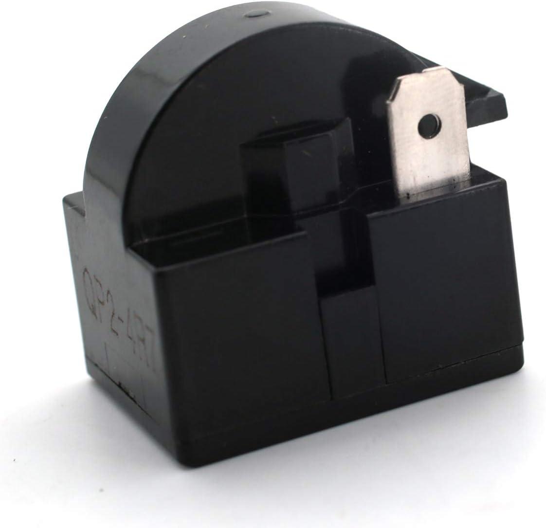 CENTAURUS Universal QP2-4.7 Start Relay Refrigerator PTC Compressor 4.7 Ohm 1 Pin Wine Centers Beverage Coolers Compressor Starter for Vissani Danby Compressor