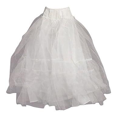 b90b222004f6f Angels Garment Big Girls White Multiple Layered Petticoat Underskirt 6 7