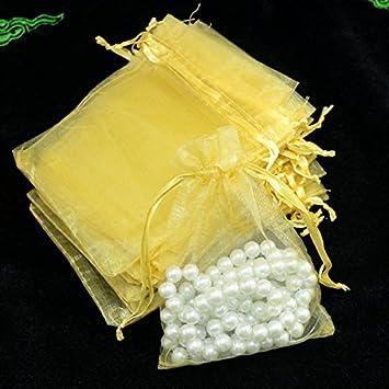 100 bolsas de organza con cordón para regalo de bodas ...