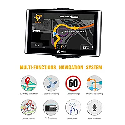 SIXGO GPS Navigation for Car 7 Inch Touch Screen Truck GPS Navigation System with Voice Broadcast and Free Lifetime Map Update (2020 Latest Maps): GPS & Navigation