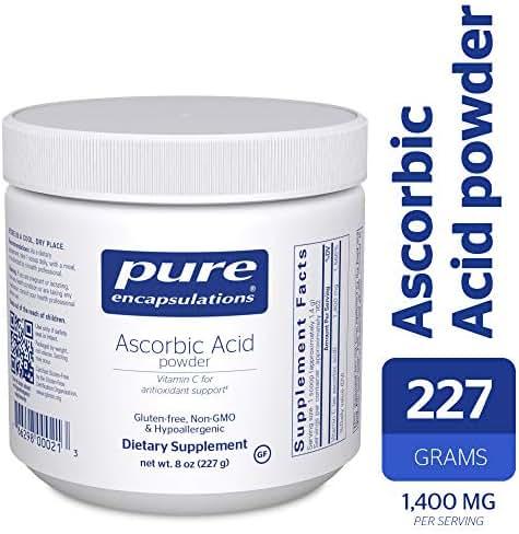 Pure Encapsulations - Ascorbic Acid Powder - Hypoallergenic Vitamin C Supplement for Antioxidant Support* - 227 Grams