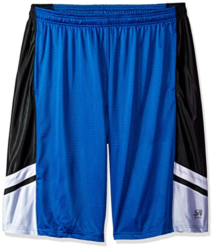 Southpole Men's Big and Tall Basic Basketball Mesh Shorts, Royal, ()