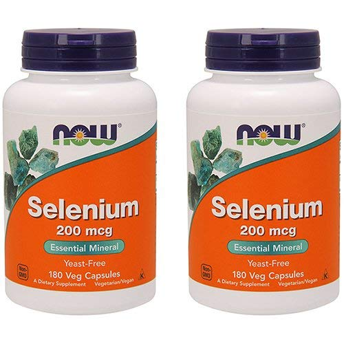 (Now Foods Selenium 200 mcg VCaps, 180 ct (Pack of 2))