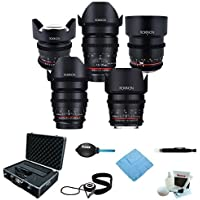 ROKINON CINE DS Full Cinema Lens Kit - 50mm + 35mm + 85mm + 24mm + 14mm for C...