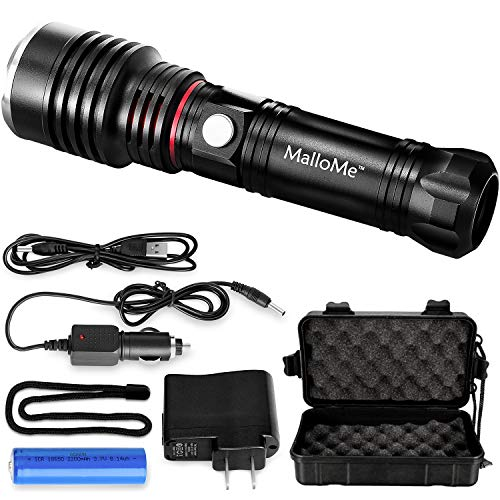 MalloMe Tactical LED Flashlight High Lumens - Better Than Mini, EDC, Small Flashlights - Extra Bright Cree Flash Light For Camping Torch AAA or 18650 Rechargeable