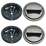 QISF 4Pcs/Pack Garbage Disposal Splash Guard and Stopper Sink Baffle for Waste Food,Whirlaway, Sinkmaster and GE Models Food Waste Disposer Accessories