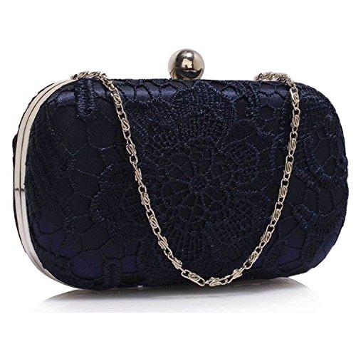 L And S Handbags - Cartera de mano para mujer azul marino