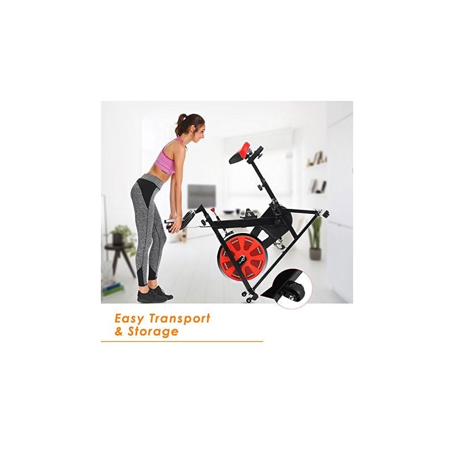 ANCHEER Indoor Cycling Bike, Belt Drive Indoor Exercise Bike with 40LBS Flywheel (Model: ANCHEER A5001)