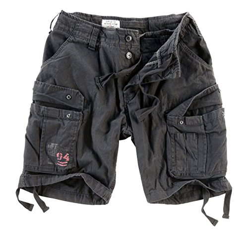 Surplus Airborne Vintage Shorts (Black, Medium)