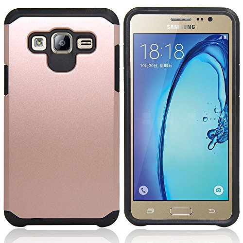 Galaxy J7 Neo J701M/J7 Nxt J701F/J7 Core J701 Case, With Screen Protector & Stylus, Telegaming Dual Layer Defender Impact Resistant Armor Cover For Samsung Galaxy J7 J700/Core Duos J701FZ Rose Gold